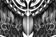 Sketchs / Dessin / Peinture / Encre / Pyrogravure ...