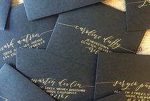 wedding invitations and envelopes