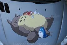 Totoro / Totoro Totoro pintado a mano en un coche!!