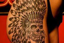 Tatoo skull indiana