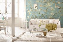 Muren (behang, kleur, vorm etc)
