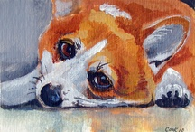 """Miniature Paintings ACEO / My work in a miniature artcard format of 2.5"""" x 3.5""""."""