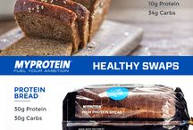 High Protein Snack Swaps / Looking for some high protein versions of your favourite treats? Check out these healthier high protein snack swaps. From protein bread, rice and pasta to chocolate protein bars and wafers, you can easily add protein to your diet. / by Myprotein