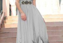 Společenské šaty - šedá