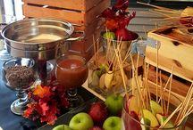 Wedding food fall