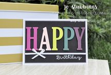 Stampin'Up! : Letters