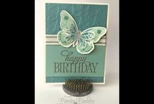 Stampin up Butterfly Thinlits. / Stampin up Stamp Sets quick & Easy cards using stampin up stamps and punches featuring many of your favourite stamp sets and punches, including sprinkles of life, wetlands, petite petals, lovely as a tree, painted petals, sheltering tree, butterfly basics etc.