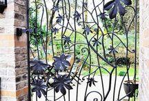 Cancelli in ferro battuto decorati