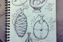 Ceramics/Sculpture sketchbook