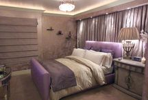 Lavender Glam / Lavender combined with gold, crystal and soft earth tones
