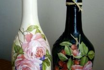 botellas decorada