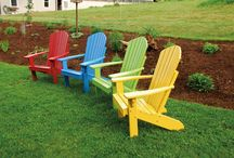 Painted & Stained outdoor solid wood furniture / A beautiful assortment of painted and stained solid pine outdoor furniture - 100%  Amish made in the USA.  Great for  the  porch, patio, lawn, back yard, and more!   Available at  Furniture Barn USA's  outdoor furniture online outlet:  http://furniturebarnusa.com/80-painted-stained-pine-outdoor-amish-furniture