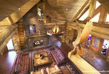 Log Home Interiors / Take a look inside some of the gorgeous houses built by Pioneer Log Homes of British Columbia.  / by Timber Kings