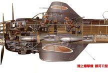 Cutaway drawings of plane