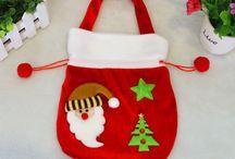Bolsas navideñas de tela