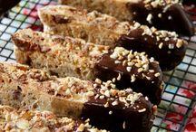 almond hazelnut biscoti