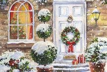 новый год художники  Christmas