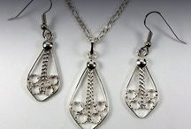 My Silver Filigree Sets / Handmade Silver Filigree Sets / by Denis Eugene Picard