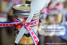 Red, White, and Blue Foods! / Foods that celebrate the colors for Old Glory: Red, White and Blue recipes that include cakes, pies, cookies, dessert bars and many more delicious recipes.