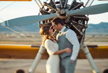 Aviation Themed Engagement Shoot Ideas