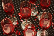 Bridal shower  / Wine theme; burgundy and silver