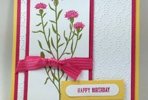 Wild about flowers / Samples from the stamp set Wild about Flowers. New in the 2015 Stampin'Up catalog