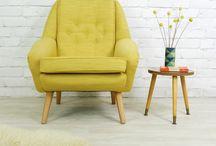 Fotele musztardowe