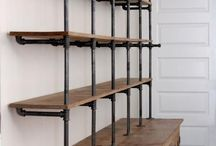 shelves and pipes