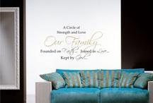 Vinyl Wall Verse;Faith, Love, God / by Marilou Kanis