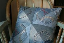Old denims used wisely / Anything you can do with old denims instead of throwing them away!