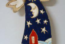 Keramika-Vánoce-andělé