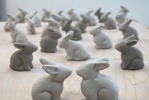 pottery - rabbits
