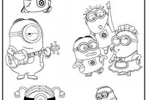 Minions Coloring pages free / Free coloring pages online at: http://magiccolorbook.com/category/minions/