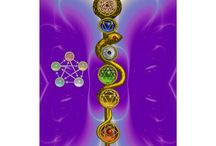 ROD OF ASCLEPIUS WITH 7 CHAKRAS ,SPIRITUAL ENERGY by Bulgan Lumini / Digital Graphic Design ,3D Modeling by Bulgan Lumini (c) .Symbol of ancient Greek astrology, medicine and healing : Asklepian,an entwined golden snake,shiny gem stones as seven Chackras, five elements : fire,wood,earth,water,metal  Cool design for traditional Indian,Japanese and Chinese medicine,chiropractic,Feng Shui,Zen,martial arts .The word chakra is Sanskrit for wheel or disk and signifies one of seven basic energy centers in the body .