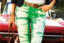 Colored/printed pants