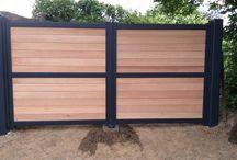 portail bois et fer