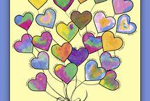elementary art - hearts