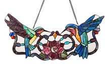 Stained Glass - Hummingbirds
