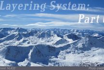 The Layering System / The layering system for backcountry splitboarding, snowboarding, skiing, hiking, and climbing.