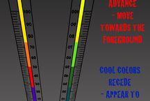 Elements of Art - Color / Color Temperature, Primary Color, Secondary Color, Organic Color, #elements_of_art #color