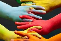 Colours in hands