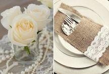 Wedding - table, menu card, guests card