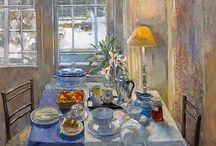 Beautiful Interior and stillife paintings