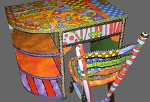 Painted furnitures - Folk Art
