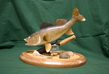 Artist Fred Kinne / These are pictures of my fathers fish carvings.  If you are interested email fjkinne@hotmail.com / by Kim Hossack