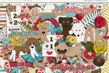 Pet scrapbooking kits / Kits and elements with a pet theme.