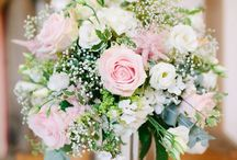 Pink, Ivory and Gold Centerpieces