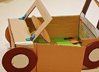 Materiál - krabice / Výrobky z krabic