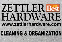 Zettler Cleaning & Organization / We have cleaning supplies and organizations tools to help you with your next project!
