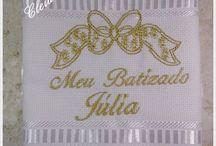 Toalha de batizado / Toalha de batizado aveludada personalizada